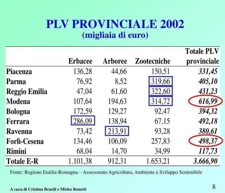 PLV PROVINCIALE 2002