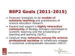 bsp2 goals 2011 2015