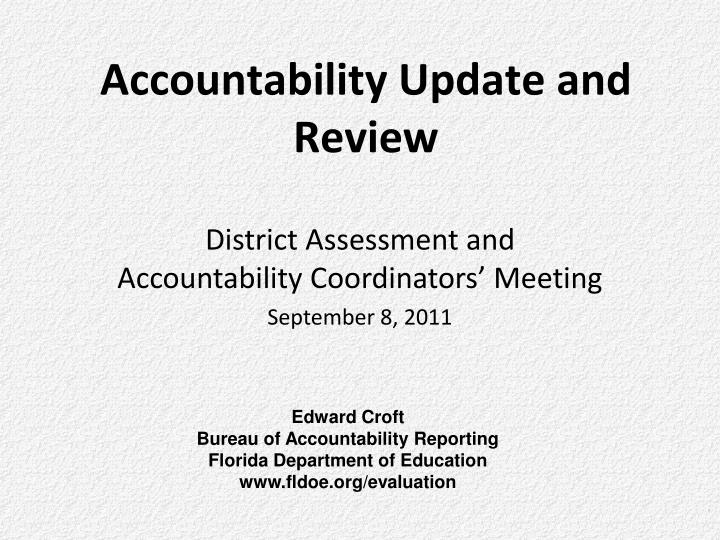 accountability update and review n.