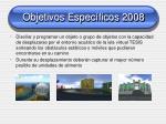 objetivos espec ficos 2008