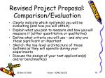 revised project proposal comparison evaluation