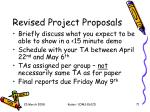 revised project proposals