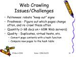 web crawling issues challenges