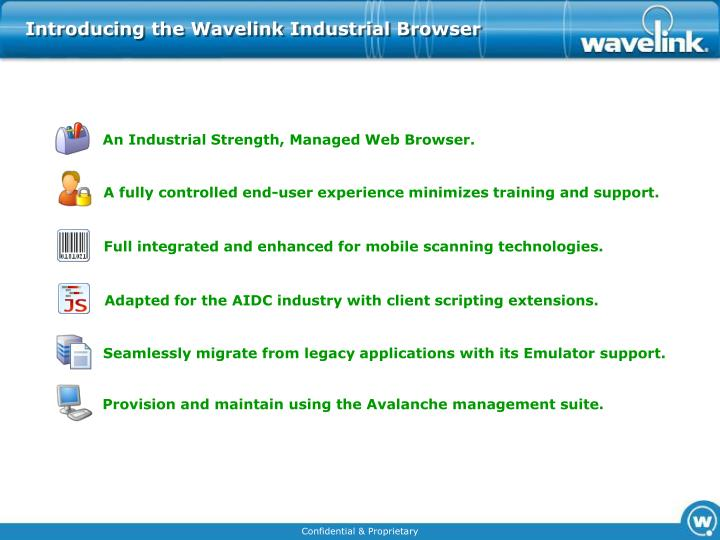 Introducing the Wavelink Industrial Browser