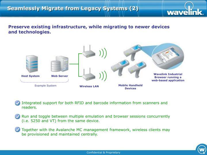 Wavelink Industrial Browser running a web-based application