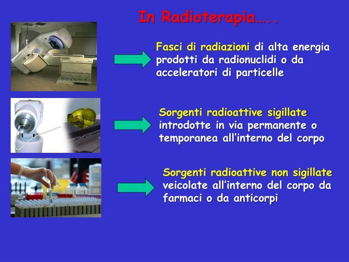 In Radioterapia…..