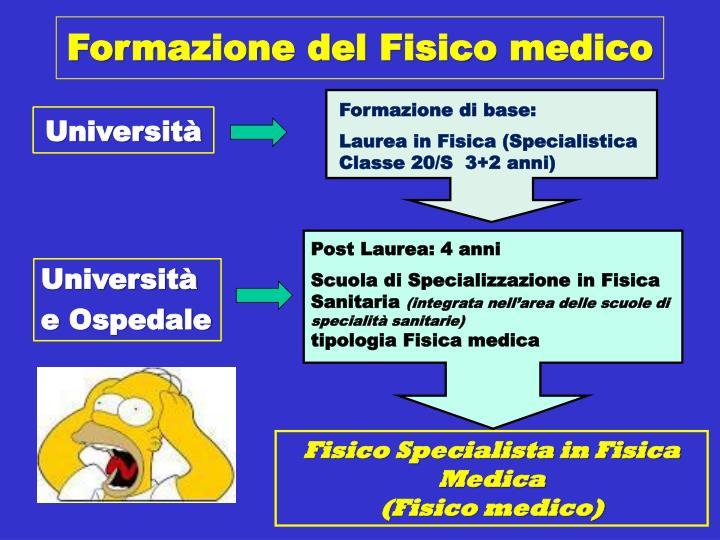 Formazione del Fisico medico