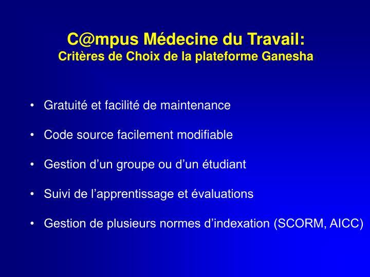 C@mpus Médecine du Travail: