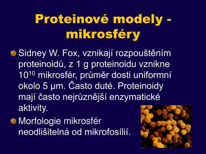Proteinové modely - mikrosféry