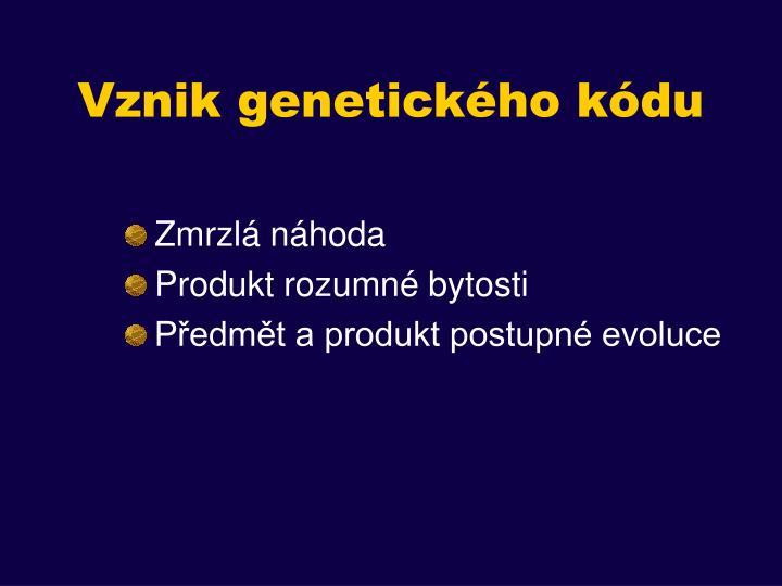 Vznik genetického kódu