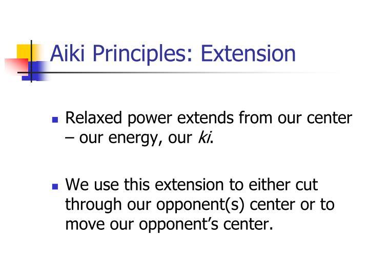 Aiki Principles: Extension