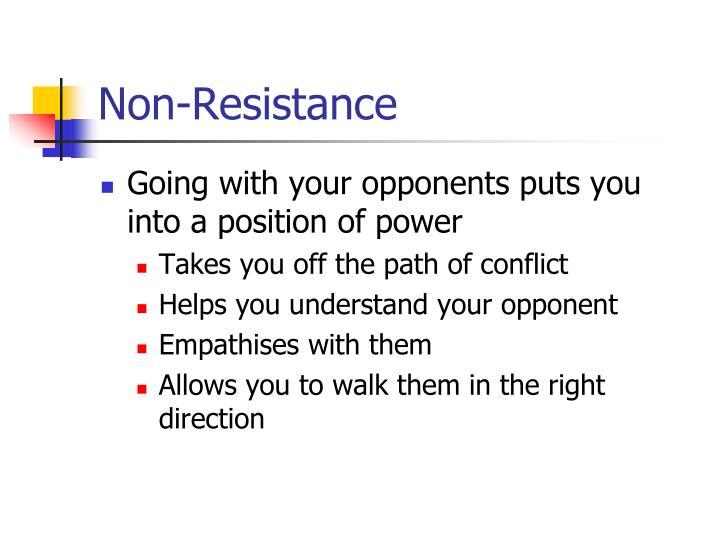 Non-Resistance