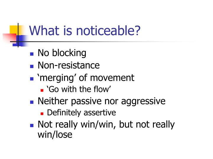 What is noticeable?