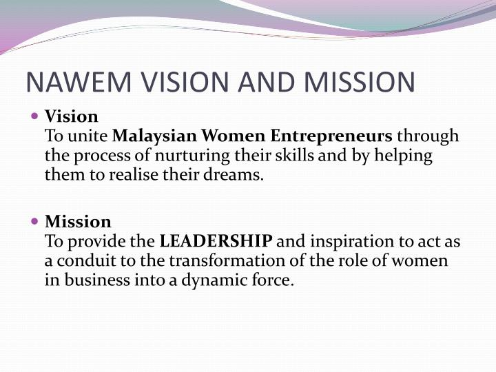 NAWEM VISION AND MISSION