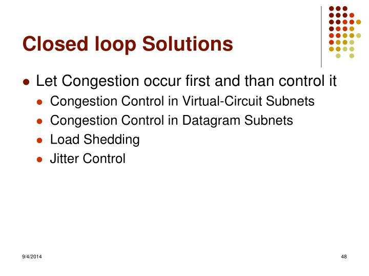 Closed loop Solutions