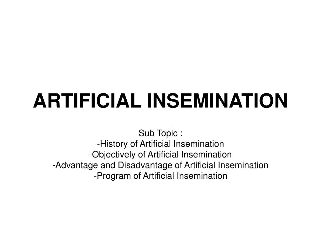 ppt - artificial insemination powerpoint presentation - id:3933703