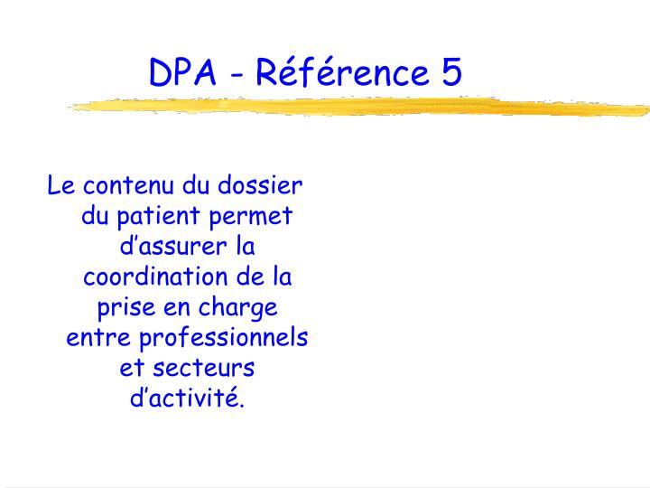 DPA - Référence 5