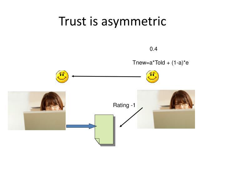 Trust is asymmetric