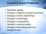 current future pressures