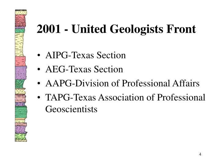 2001 - United Geologists Front