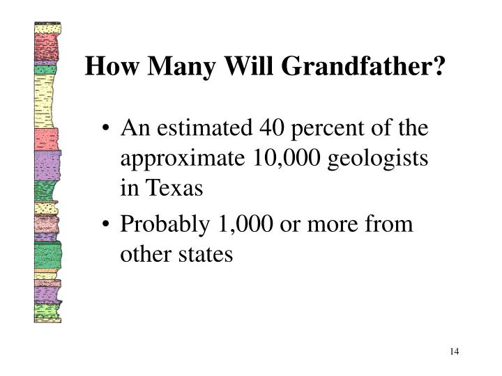 How Many Will Grandfather?