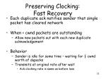 preserving clocking fast recovery