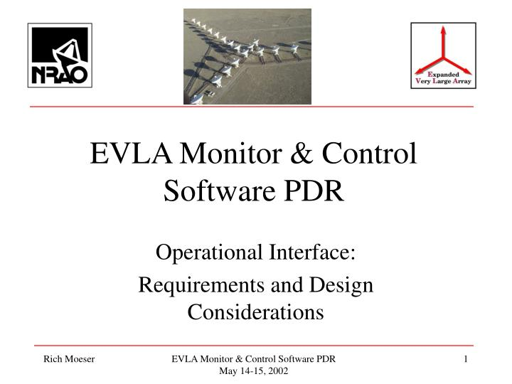 Evla monitor control software pdr
