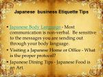 japanese business etiquette tips