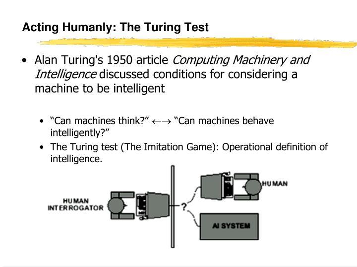 an analysis of alan turings test the imitation game