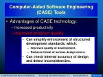 computer aided software engineering case tools3