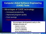 computer aided software engineering case tools5