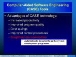 computer aided software engineering case tools6