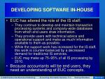 developing software in house16
