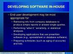developing software in house18