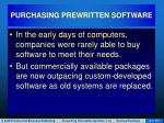 purchasing prewritten software