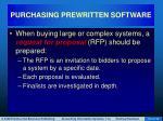 purchasing prewritten software13