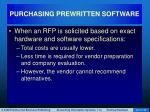 purchasing prewritten software18