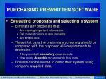 purchasing prewritten software21