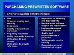 purchasing prewritten software28