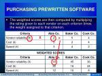 purchasing prewritten software36