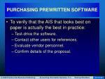 purchasing prewritten software41