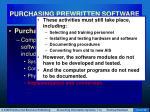 purchasing prewritten software8