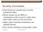 security association1