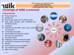 coverage of aiss continued