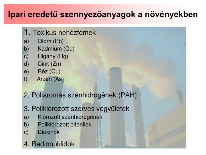 Ipari eredetű szennyezőanyagok a növényekben