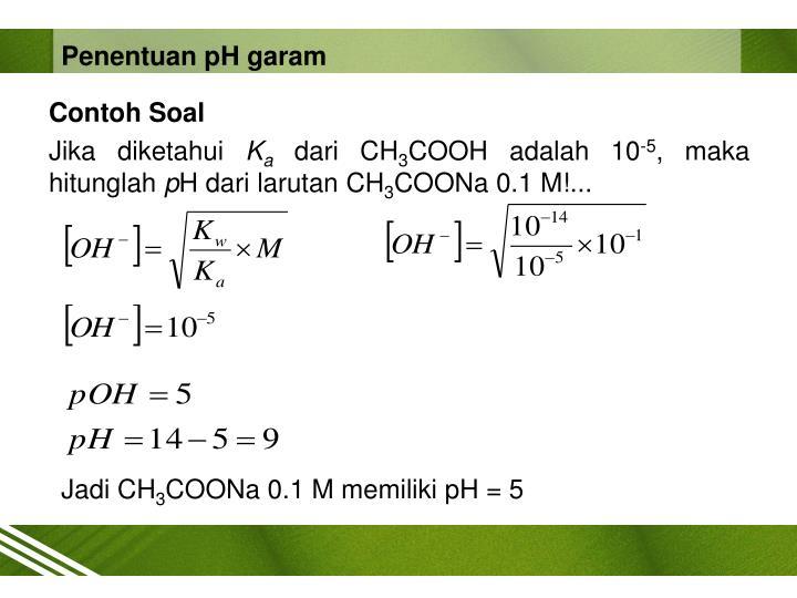 Penentuan pH garam