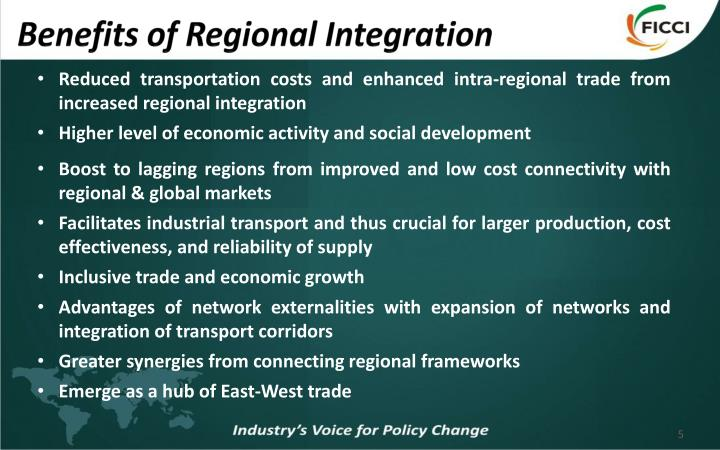 Benefits of Regional Integration