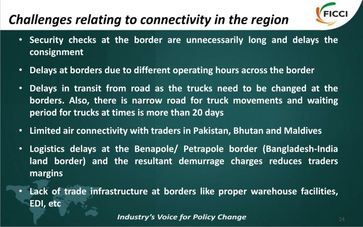 Challenges relating to connectivity in the region