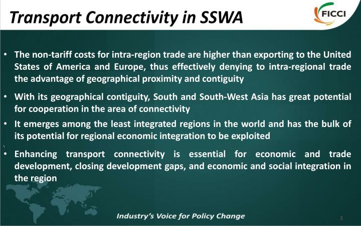 Transport connectivity in sswa1