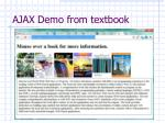ajax demo from textbook